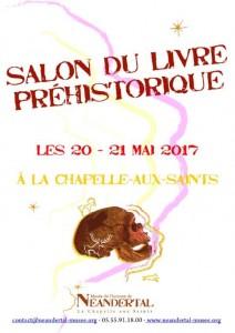 Affiche salon du livre Préhistorique 2017- Musée de l'Homme de Neandertal - La Chapelle-aux-Saints